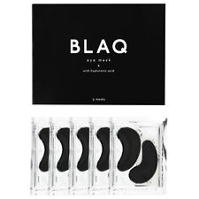 BLAQ Activated Charcoal Under Eye Mask with HydroGel 5 Pack Hyaluronic Acid
