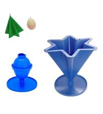 Set x 2, Egg/Oval Shaped & 6 Pointed Tapered Star Candle Moulds Molds. S7691