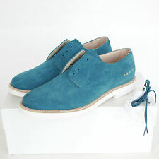 COMMON PROJECTS blue suede derby laceless slip on welted oxford shoes 42 / 9 NEW