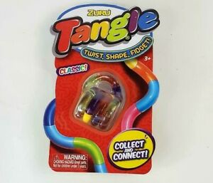 Zuru Tangle Classic Purple Green Orange Yellow Twist Shape Fidget Brain Tools