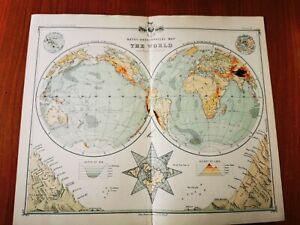 Antique 1898 Atlas/Plates Of The World by J.G. BARTHOLOMEW Sixth Edition