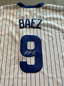 CHICAGO CUBS- JAVIER BAEZ AUTOGRAPH COOPERSTOWN COLLECTION JERSEY SIGNED
