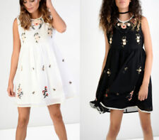 Boho Party Dresses for Women with Embroidered
