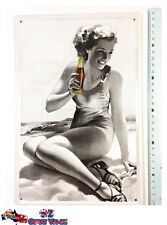 Vintage Retro Style Coca Cola Sign Metal Decorative Sign/Picture Wall Decor Gift