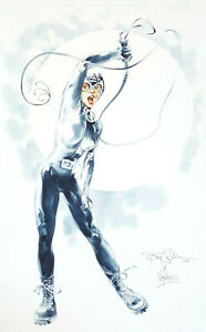 Tony SALMONS / Ray LAGO ~ CATWOMAN Water Color Painting 2003