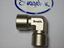 "1 - Swagelok Stainless Steel Elbow Connector Fitting, 3/8"" Female NPT,  SS-6-E"