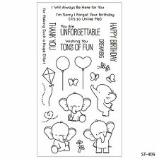 Lovely Elephants Clear Stamps for DIY Scrapbook Decor Card Making Craft Supplies