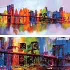 "40W""x20H"" ABSTRACT MANHATTAN by BRIAN CARTER - NEW YORK CITY BRIDGE CANVAS"