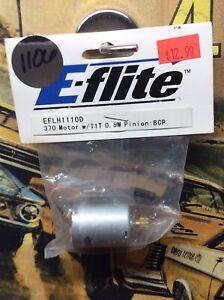 E-Flite EFLH1110D: 370 Motor W/11 Tooth 0.5 Pinion Gear BCP NewInPack USA