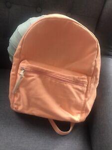 Orange/Peach Canvas Lightweight PRIMARK Backpack