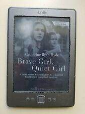 "Amazon Kindle 4th Generation 6"" E Ink , Wi-Fi E-Reader grey, one broken button"