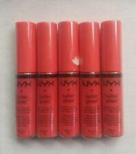 NYX Butter Gloss BLG06 Peach Cobbler 0.27 Fl Oz 5 Pack Sealed Pkgs