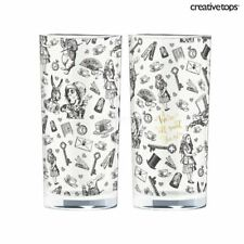 New listing Victoria and Albert Alice in Wonderland Set of 2 High Ball Glasses Glass Tumbler