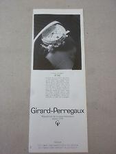 ADVERTISING PUBBLICITA' GIRARD-PERREGAUX il nuovo cronografo GP 7000  -- 1989