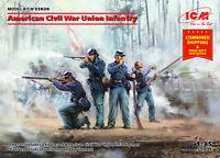 ICM 35020 - 1/35 - American Civil War Union Infantry Scale model kit 4 figures