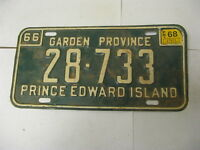 1966 66 1968 68 Prince Edward Island PEI Canada License Plate 28-733