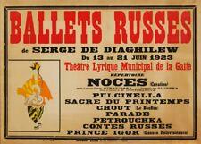 Nijinska Ballets Russes de Serge De Diaghilew, 1923, Vintage Ballet Poster
