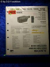 Sony Service Manual CCD TR530E /TR550E /TR570E /TR650E /TR750E (#3672)