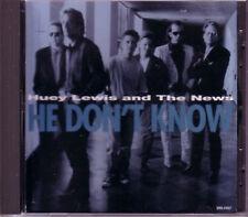 HUEY LEWIS And the NEWS He Don't Know PROMO DJ CD Single & 1991 USA