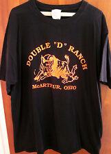DOUBLE D RANCH logo XL tee McArthur OHIO tee exotic trophy hunting T shirt OG