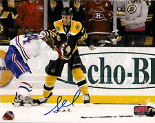 Gregory Campbell Boston Bruins Signed Fight Montreal Canadiens Pyatt 16x20