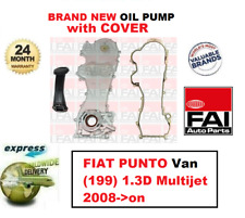FOR FIAT PUNTO Van (199) 1.3D Multijet 2008->on BRAND NEW FAI OIL PUMP + COVER