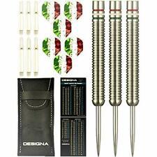 Designa 22g 90% Tungsten, Italian Flag Steel Tip Dart Set w/Flights/Shafts/Case