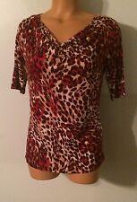 •• Women's Jones New York Size PS Blouse Cowl Neck Shirt Petite Small Nice!