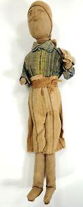Early Antique Primitive Folk Art Doll Poppet