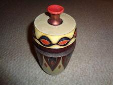 Studio art pottery contemporary vase lid purple copper luster iridescent glaze