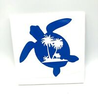 Sea World Palm Tree Salty Turtle Salt Beach Life Vinyl Decal Sticker Car Window