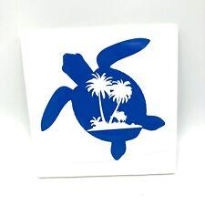 Sea World Palm Tree Salty Turtle Salt Beach Life Vinyl Decal Sticker Car Window