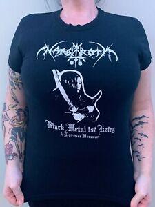 NARGAROTH Band Shirt Ladies T Shirt Sz. (L) Black Metal It's Krieg