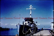 1950s US  Navy ? War Ship 26 at dock 35mm Slide c62