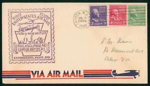 MayfairStamps US First Flight Cover 1939 Camden to Philadelphia Pennsylvania wwp