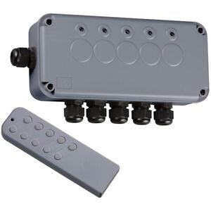Knightsbridge Outdoor Weatherproof Remote Control Electrical Switch Box 5G 5 Way