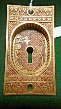 PAIR of LOCKWOOD 'BROKEN LEAF' EASTLAKE  POCKET DOOR PULLS   (9149)
