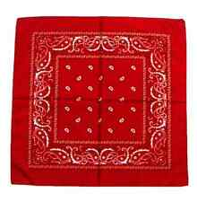 7pcs Cotton Head Wrap Paisley Bandana Neck Scarf Wristband Handkerchief J74 Red