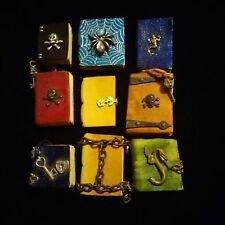 dollhouse miniature book leather EV miniatures lot 1:12