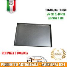 TEGLIE DA FORNO RETTANGOLARE ALLUMINATA PER PIZZA E FOCACCIA 40 X 26 cm H 3 cm