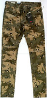 New Levis Premium Lo-Ball Stack Distressed Camo Jeans Mens Size 36 Camouflage