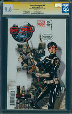 Secret Avengers #4 signed Cobie Smulders, Maria Hill Variant, CGC 9.6 SS, White
