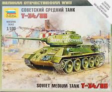 Zvezda 1/100 15mm Russian T-34 85 platoon 5 tanks Flames of War