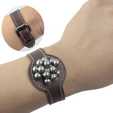Genuine Leather Watch Style Magnetic Hunting Steel Ammo Ball Pouch Holder Ring