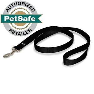 """PetSafe Nylon Leash 6 ft (3 Widths to Choose From 1"""", 3/4"""" or 3/8"""") Black"""