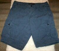 American Eagle Blue Longboard Cargo Shorts Men 36 Casual Classic All Cotton 2014