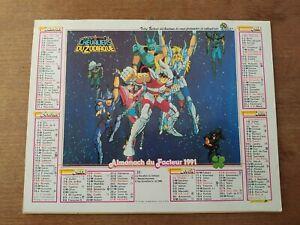 Calendrier 1991 Almanach du facteur CDZ chevaliers du zodiaque Oller La Poste