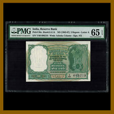 India 5 Rupees, 1962-1967 P-36a ,Letter A, Sig# 75 PMG 65 EPQ Unc