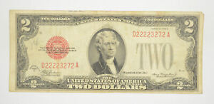 1928-D Red Seal $2 United States Note - Legal Tender - Historic *184