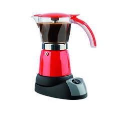 GOURMETmaxx Espresso Kocher elektrisch kabellos Kaffee Maschine Rot